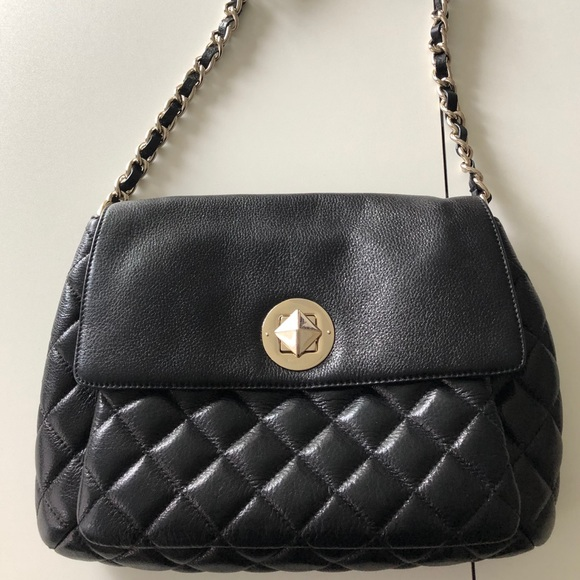 kate spade Handbags - Kate Spade quilted Chanel-like large black purse